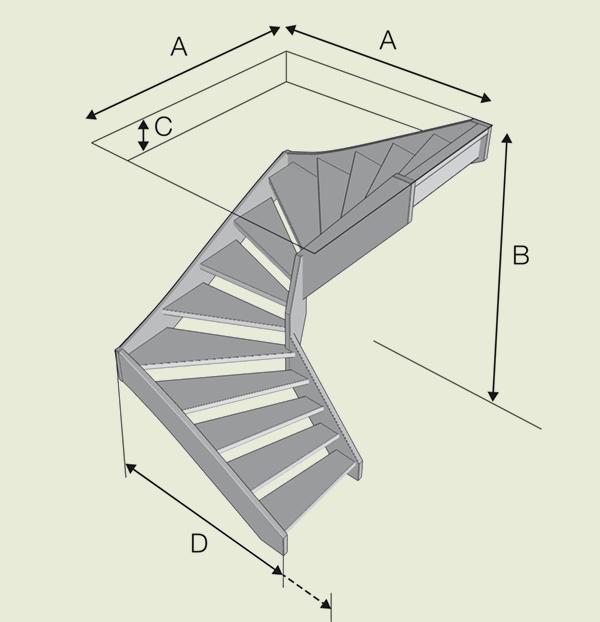 Lofttrappa eller stege för små utrymmen- Drömtrappor - Drömtrappor