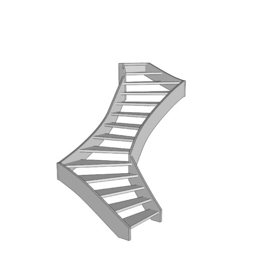 S shaped staircase
