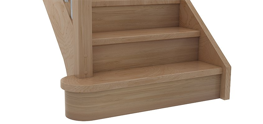 Block step Bs2e in tight design